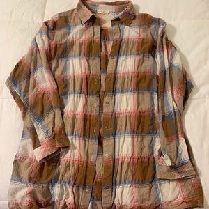 Easel Long Sleeve Button Down